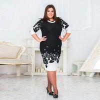 Új 2015 Women Casual Vintage ruha Női őszi téli nyomtatása virágos ruhák Molett 4XL 5XL 6XL Office Work Elegáns ruházat
