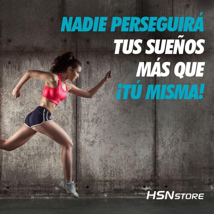 Nadie perseguirá tus sueños más que ¡tú misma! #fitness #motivation #girl #goals #go #motivacion #gym #musculacion #workhard #musculos #fuerza #chico #chica #chicofitness #chicafitness #sport