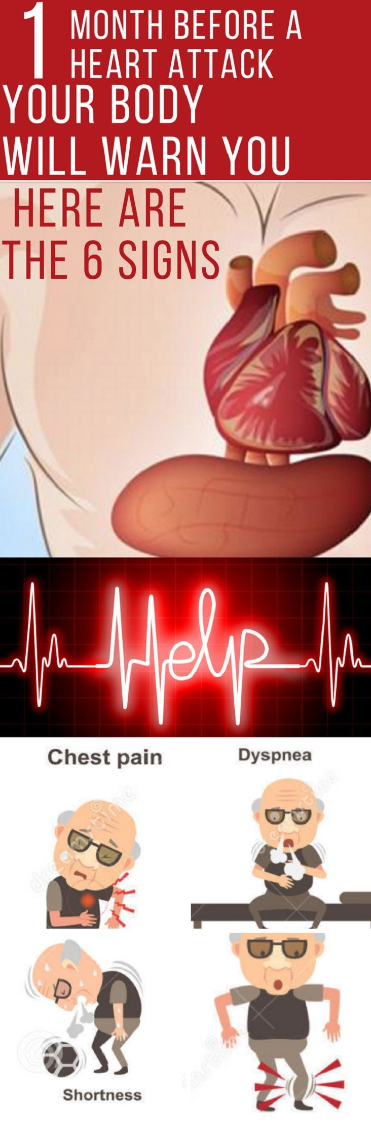 One Month Before a Heart Attack Your Body Will Warn You  Here are the 6 Signs