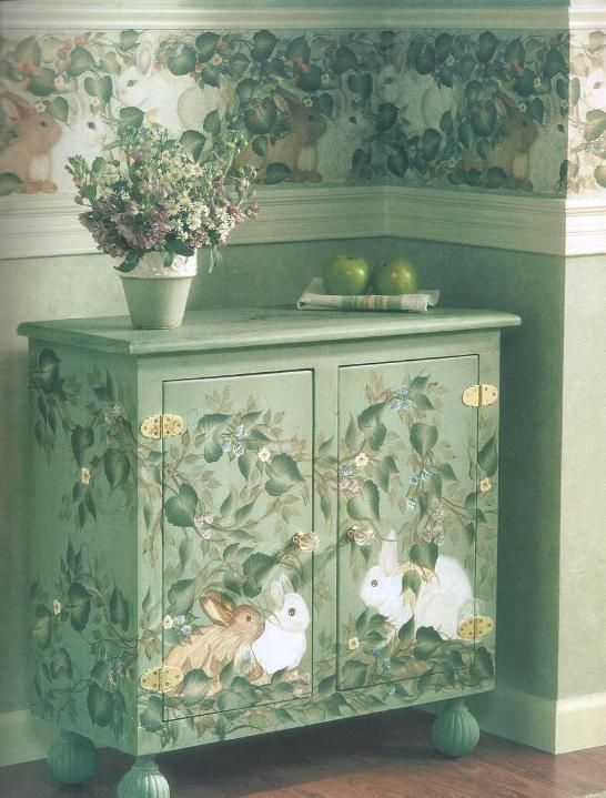 Donna Dewberry Furniture Accents One Stroke Painting ~ Awesome!