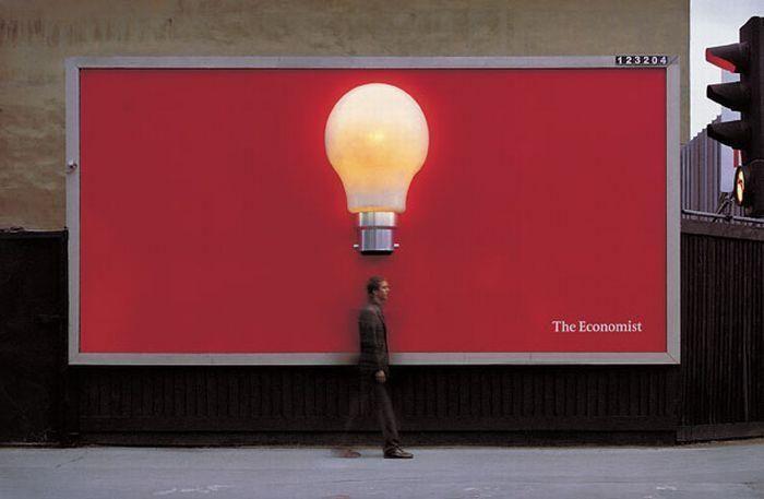A bright spark. A bright idea. A bright billboard.