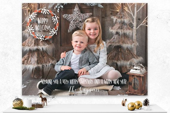 Christmas Card  Custom Holiday Card  by IspiratoPrintables on Etsy
