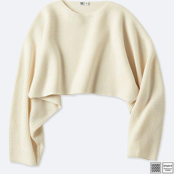 Uniqlo Women's U Merino Blend Dolman Sleeve Sweater