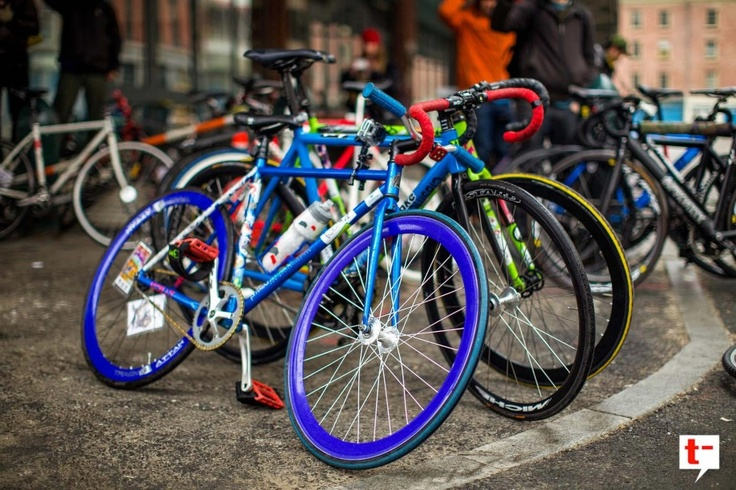 Wow, now there's some colourful #bikes #cycling