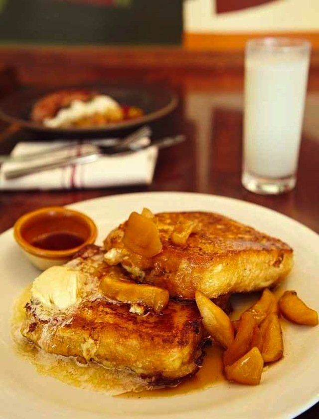 Best Brunch SF--NOPA Custard French Toast with Maple Butter and Caramelized Apples