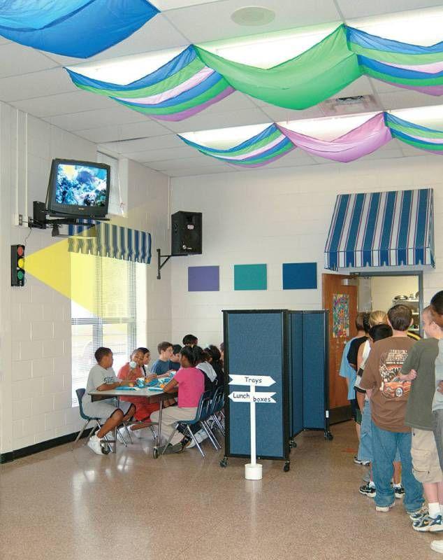 Classroom Lighting Ideas ~ Cozy shades softening light filters to soften the