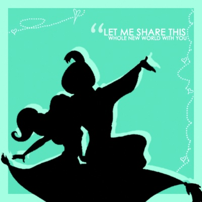 25 best aladin images on pinterest aladdin silhouettes for Aladdin and jasmine on carpet silhouette
