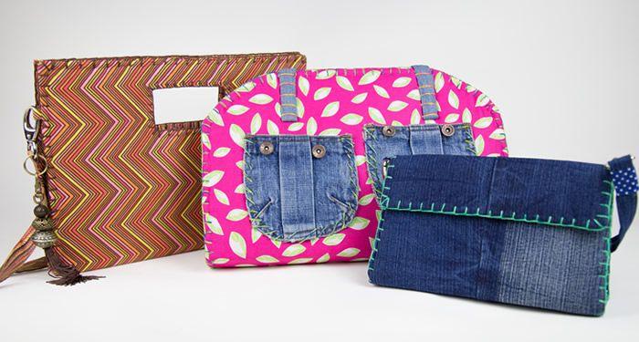 Bolsas feitas com Caixa de Leite