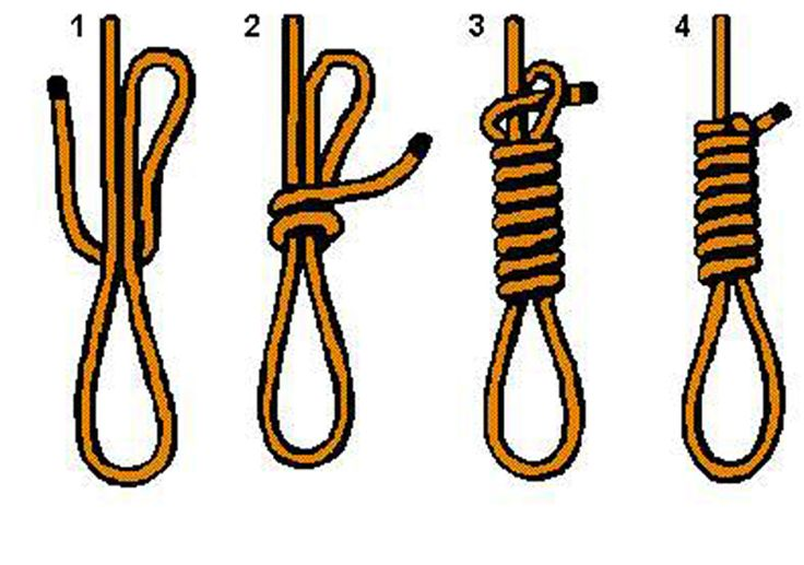 how+to+tie+a+noose+knot | found the above graphic on a half dozen sites so I don't know who ...