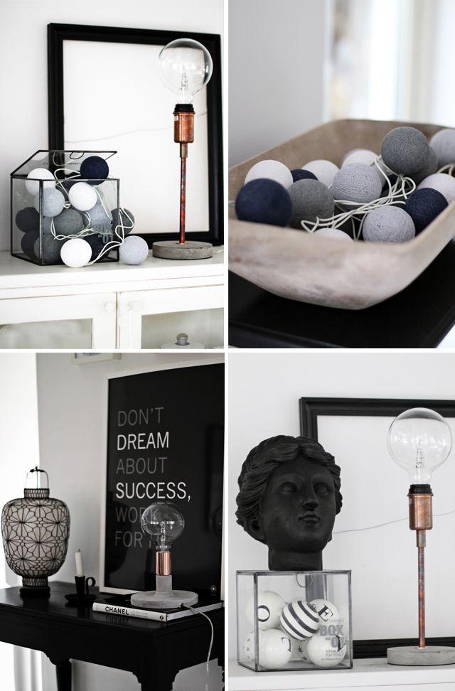 Lampe à poser Hugo small - watt & VEKE - Black & white #design #decoration #interior #interieur #light #luminaire #steampunk : http://www.uaredesign.com/lampe-poser-hugo-33-watt-veke-cuivre.html