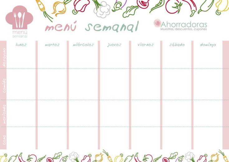 planificador menú semanal ahorradoras