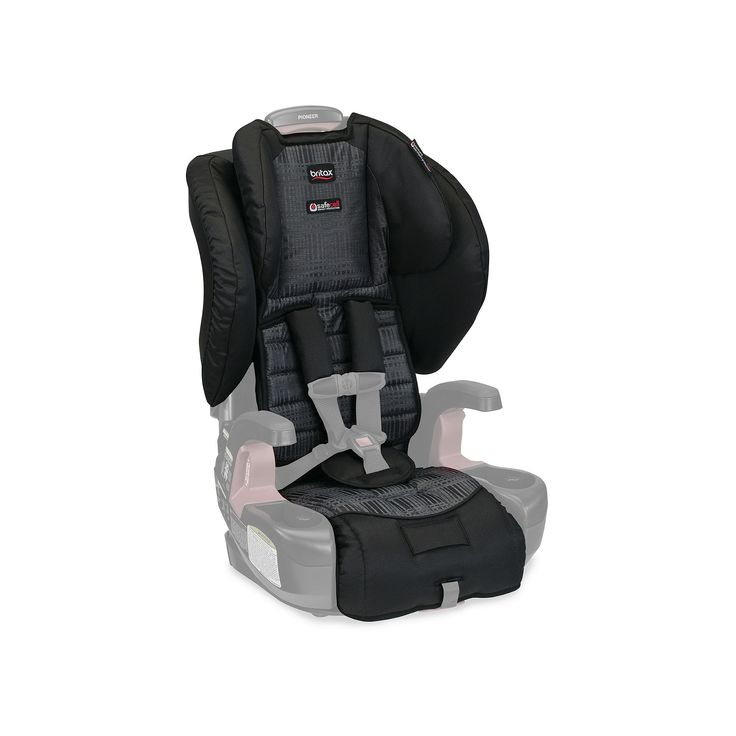 Britax Pioneer Harness-2-Booster Car Seat Cover Set, Black