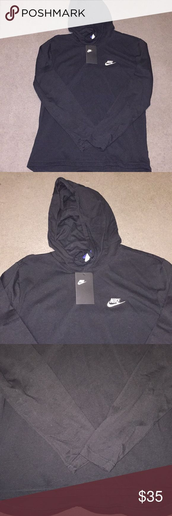 NIKE NSW JERSEY PULLOVER HOODIE All black brand new tags on never worn very light weight but super comfy ! SizE Medium for men Nike Shirts Sweatshirts & Hoodies