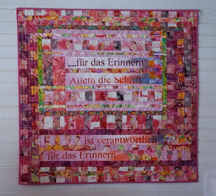 """Quilt """"....für das Erinnern"""" meinequiltsundich.blogspot.com"""
