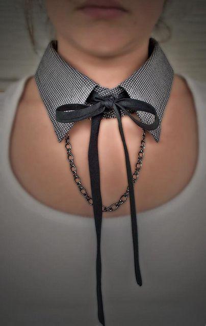 men's shirt collar necklace by fantazya fantazies, via Flickr