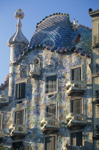 Barcelona - Casa Batllo   I love Gaudì, this house and above all the terrace ♥
