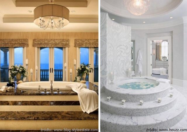 Kamień w luksusowych wnętrzach: łazienki