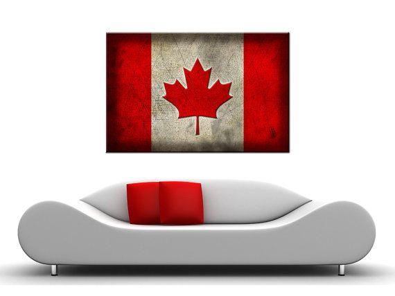 Canvas Canada Flag digital printCanvas old Canada by myPhotoShop