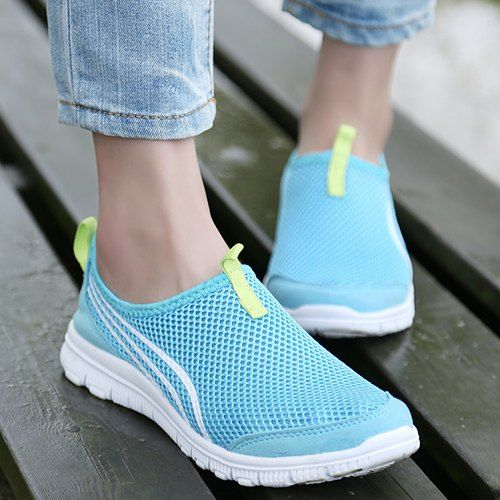 Trendy Women's Athletic Shoes With Color Splicing and Breathable Design
