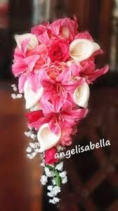 Image result for hot pink alstroemeria bridal cascade bouquet