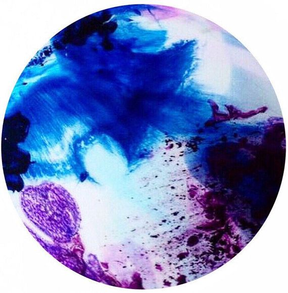 Resin art. 90cm round acrylic and resin by HelloSundayDesigns