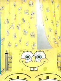 Spongebob Squarepants Smiles Curtains 54 Inch drop - Great Low Price