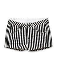 G-Star RAW shorts rayas blancas y negras