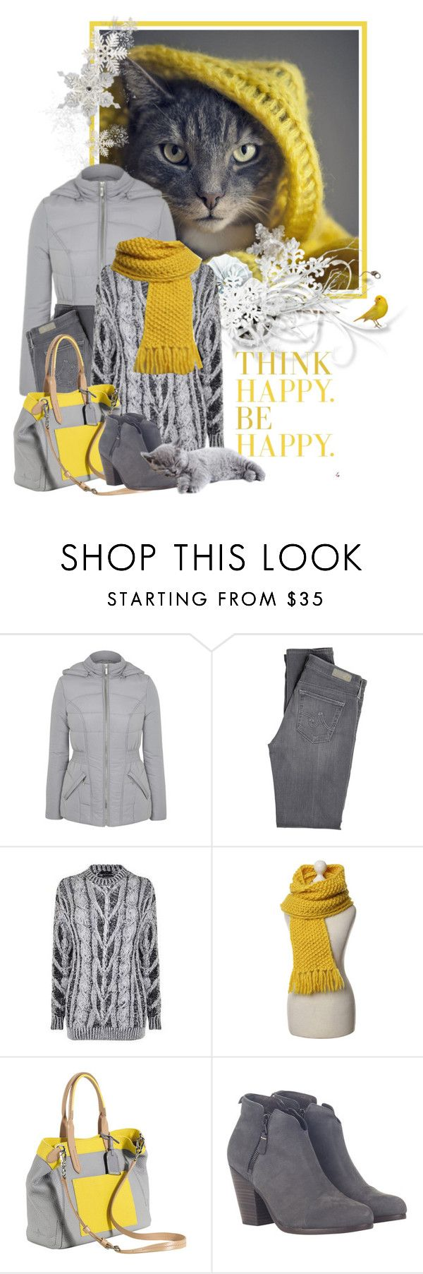 """""""grey & yellow"""" by sagramora ❤ liked on Polyvore featuring George, AG Adriano Goldschmied, Joseph, Lala Berlin, Cole Haan and rag & bone"""