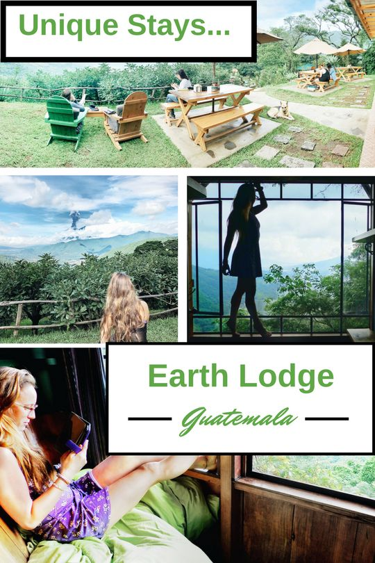 Hotels in Guatemala are ALL about the view! In Antigua area the question becomes, from where can I get the best views of Volcano Fuego Erupting. Well I found it.   Earth Lodge Guatemala is an eco-lodge where you have the chance to stay in tree houses, do yoga, eat great food, and relax.