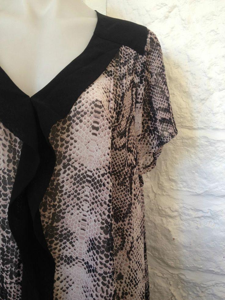 Ladies Virtu Snakeskin Print Sheer Blouse, Size 20 - Now Selling! Click through to go to eBay auction.