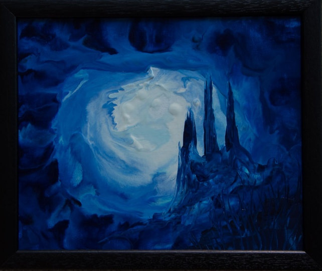 Maelstrom - Original, Framed Encaustic Art Painting on Canvas Board £33.00