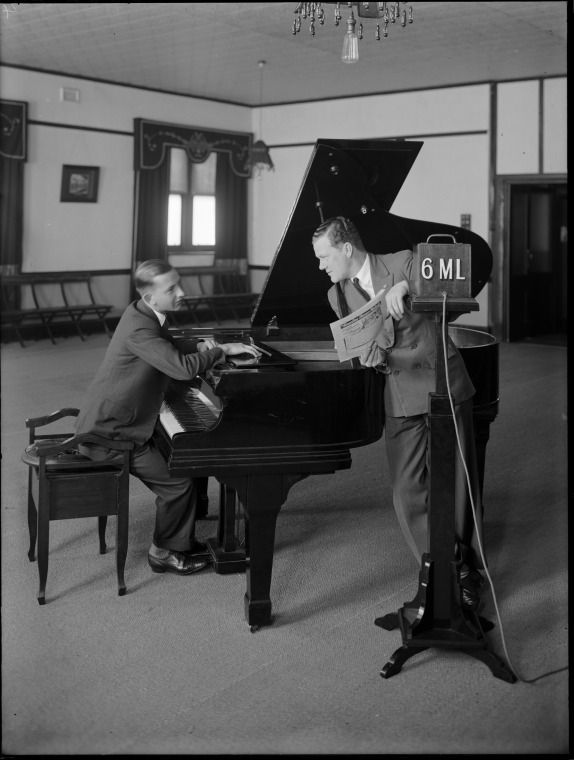 101183PD: Broadcasting from the studios of Radio 6ML, Perth, 1930.  http://encore.slwa.wa.gov.au/iii/encore/record/C__Rb3473517__S101182PD__Orightresult__U__X3?lang=eng&suite=def