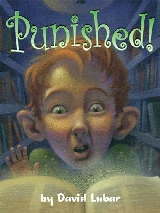 The story is about a boy who gets punished and has a spell put on him. The boy needs to collect special words to break the spell. The book discusses puns, oxymorons, anagrams, palindromes and onomatopoeia. It is a short chapter book, a very quick read. http://www.sturgeon.k12.mo.us/elementary/numphrey/subjectpages/reading/punished!.html
