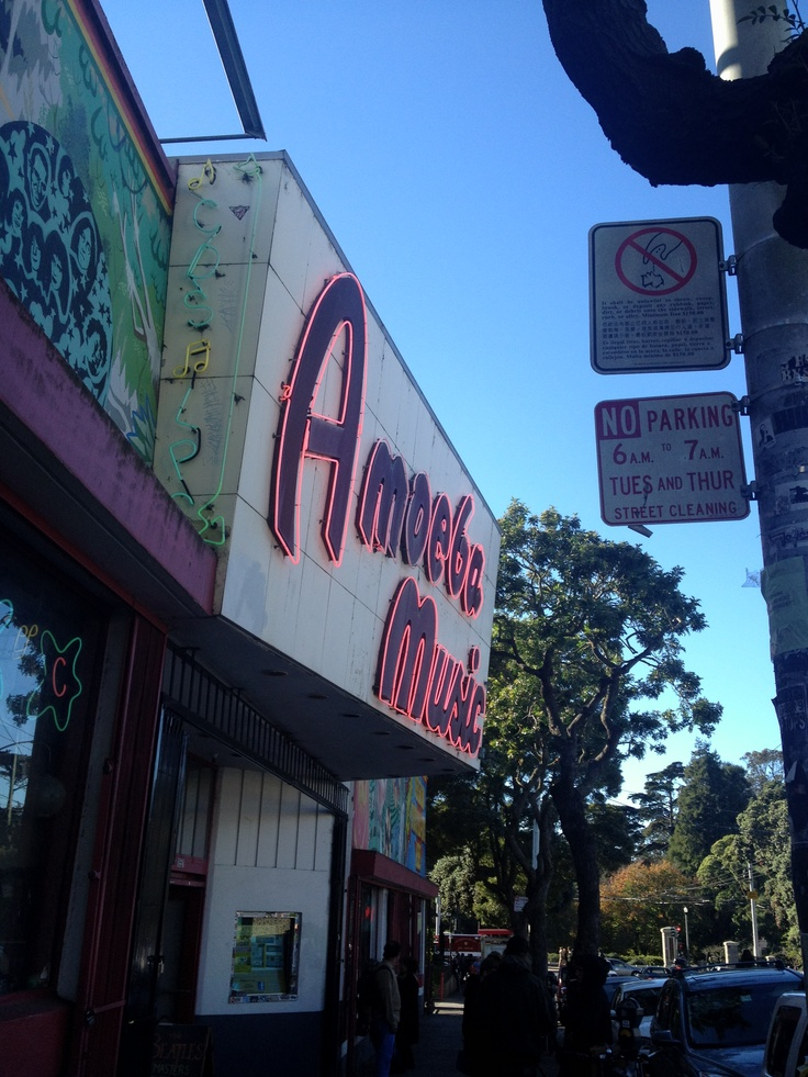The almighty Amoeba record store on Haight