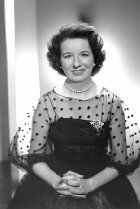 Image of Mary Wickes---she forged a career as a loud and lanky , wisecracking  character actress . Her abrupt tell-it-all demeanor made her an audience favorite on every medium for over 60 yrs.
