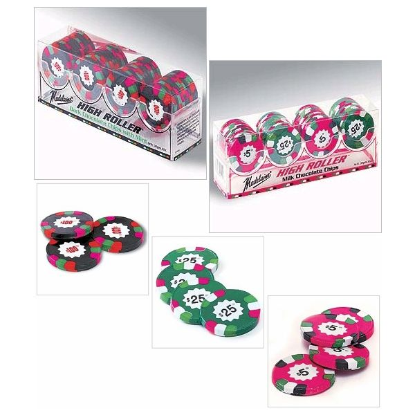 Foiled Chocolate Poker Chips for a casino party