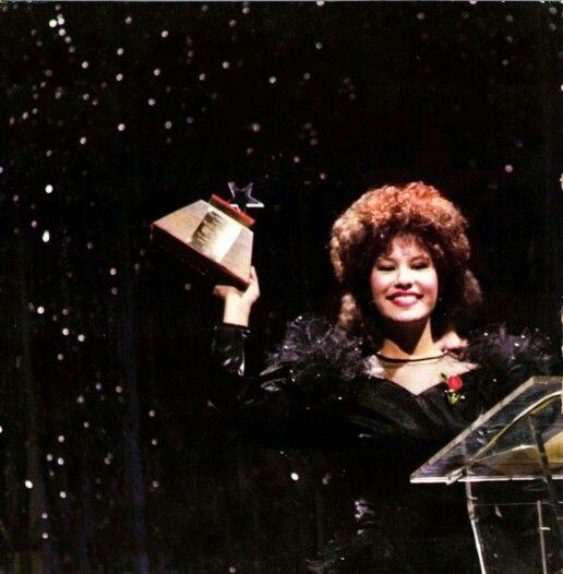 Selena Quintanilla at the Tejano Music Awards in 1986 - She was 15 and already dominating the TMAs!
