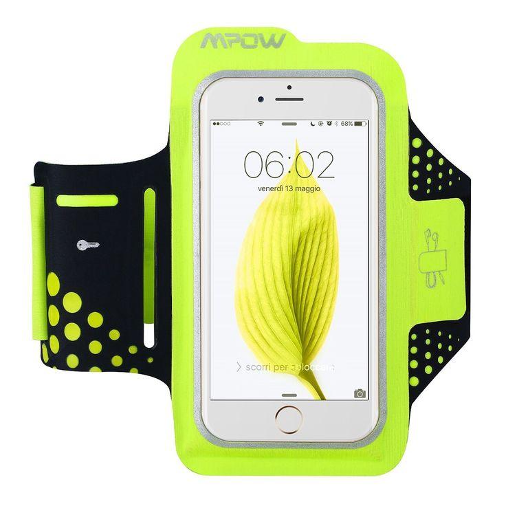 Mpow Fascia Sportiva da Braccio Sweatproof Bracciale per Corsa & Esercizi con Supporto Chiave e Riflettente Armband per iPhone 6, 6S, Samsung: Amazon.it: Elettronica  SUPER SCONTO 73% Valido soltanto il 17 Novembre 2016
