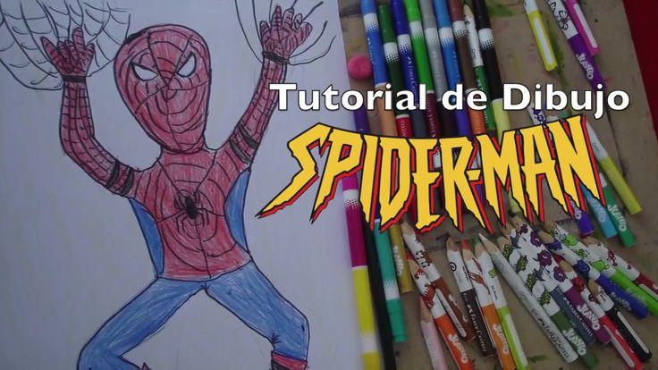 Tutorial de Dibujo para Niños: Spiderman - Hombre Araña - Hombre Araña