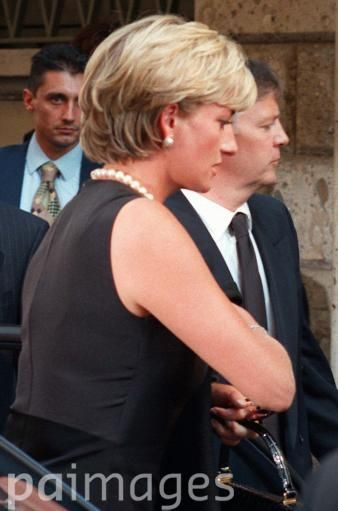 Princess Diana at Versace funeral 1997
