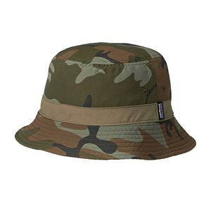 Patagonia Hats - Patagonia Wavefarer Bucket Hat - Forest Camo: Hickory