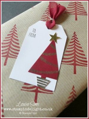 Wrap it up with Festival of Trees | Stampin' Delight, Louise Sims, UK Demo, Staffordshire | Gift Wrap, Festival of Trees, Tree Punch, Tag Topper Punches