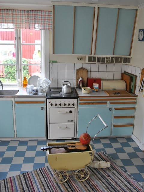 the 50's kitchen - this was a really big kitchen for those days