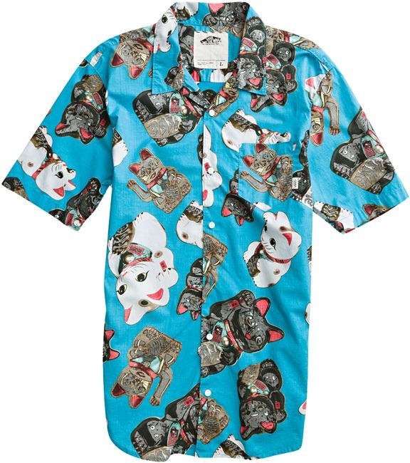 8bd9c8af hawaiian shirt with a money cat design! :DDDD | Fashion we love ...