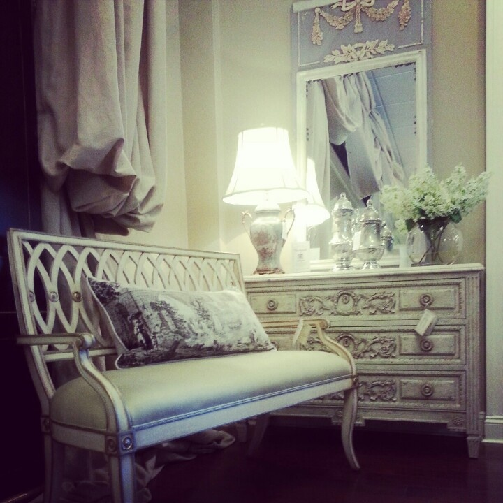 Furniture From Century And Maitland Smith Combine To Create An Intimate  French Inspired Sitting Area