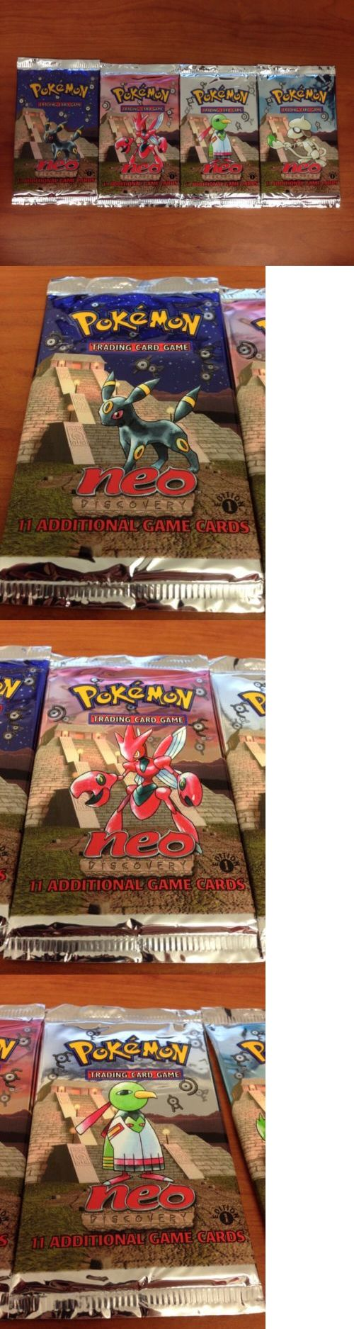 Pok mon Sealed Booster Packs 4301: Pokemon 1St Edition Neo Discovery New Sealed Booster Packs - All 4 Arts -> BUY IT NOW ONLY: $200 on eBay!