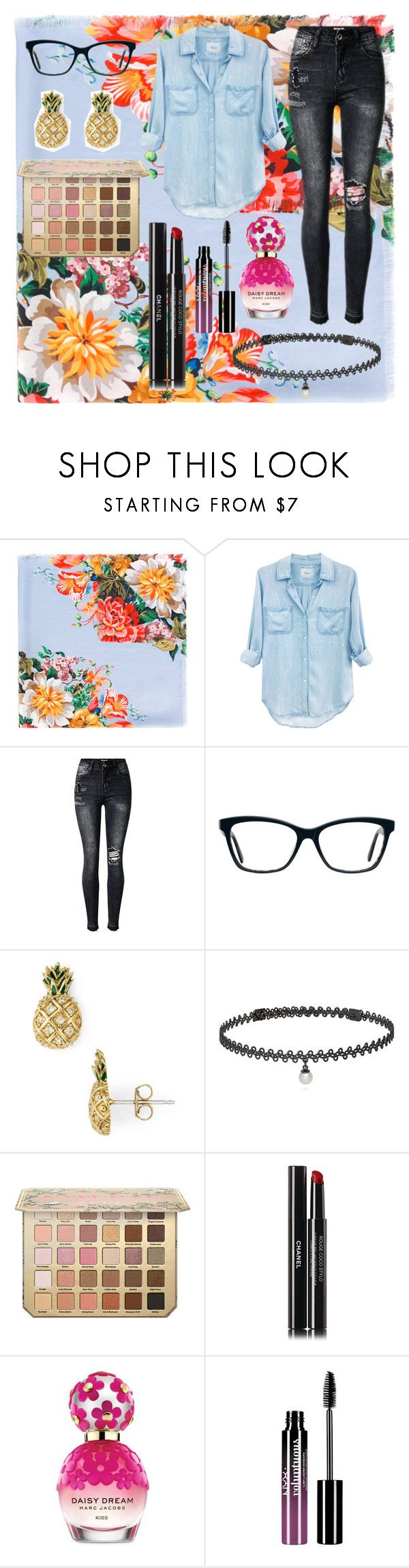"""""""Untitled #48"""" by hayden-the-unicorn ❤ liked on Polyvore featuring Gucci, Rails, Marc Jacobs, BERRICLE, Chanel and Charlotte Russe"""