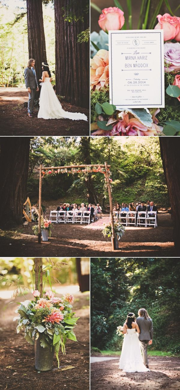 Bohemian Redwood Wedding in Big Sur