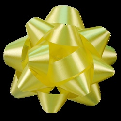 Accessorize your bags and boxes with our Star Bows - Yellow