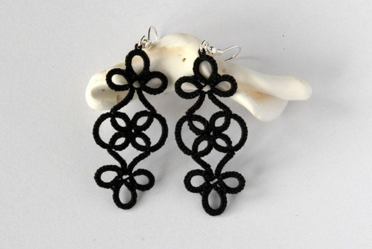 Handmade frivolite earrings